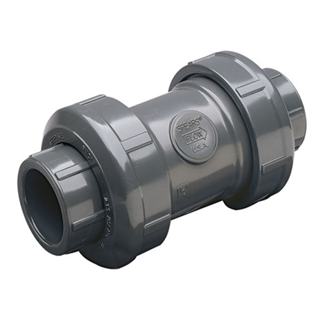 2-1/2 PVC TRUE UNION BALL CHECK VALVE THD VITON