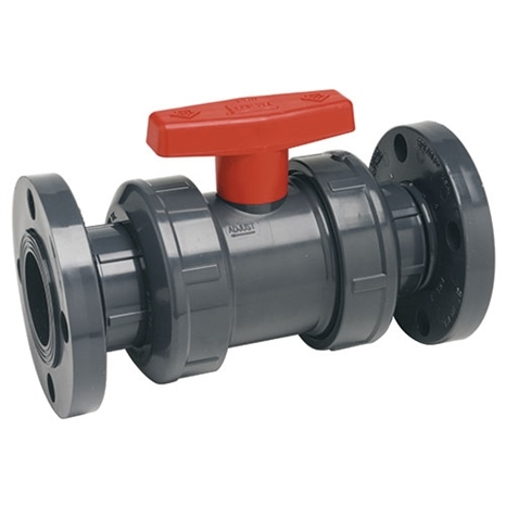 1-1/2 PVC TRUE UNION BALL VALVE FLANGED EPD