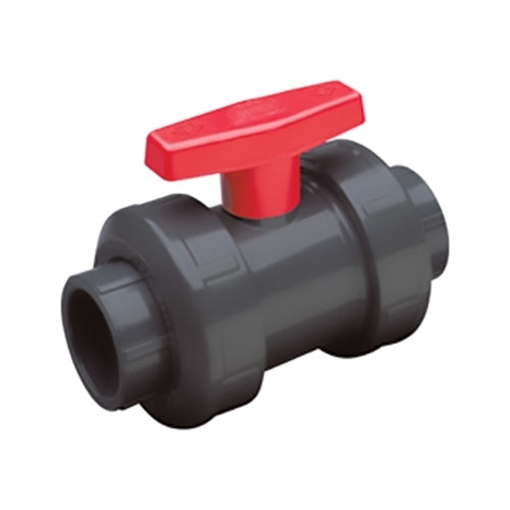 2 PVC TRUE UNION BALL VALVE (SOC/THD) EPDM