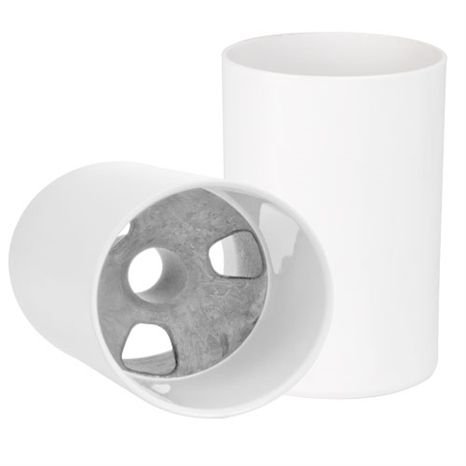 "PUTTING CUP - 6"" WHITE ALUMINUM"